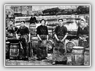 Fishwives in Campbeltown Harbour, Kintyre