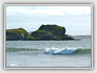 The castle rock at Dunaverty, Mull of Kintyre